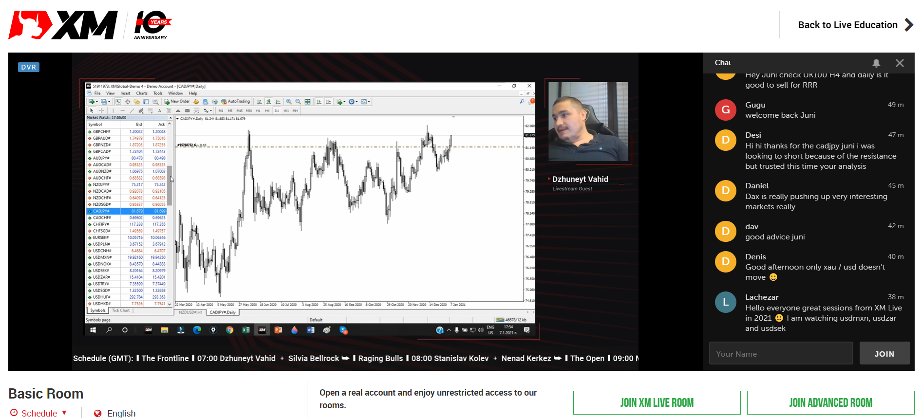 Live trading with Juni Vahid