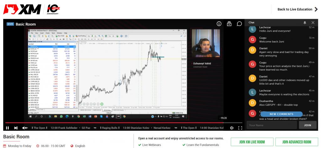 Live stream trading